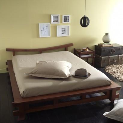 Haben Sie Lust auf Exotik ? Der Bett aus mahagoni Japon ist gemacht für Sie