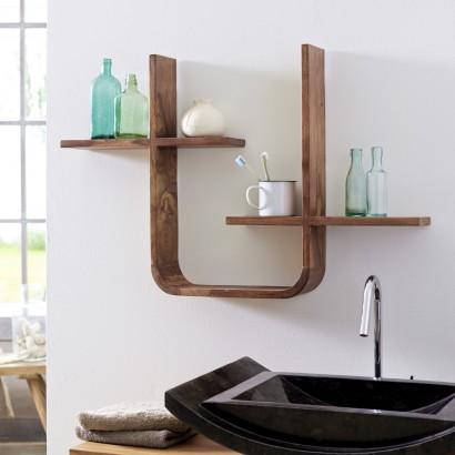 Ein Wandregal aus naturelle Holz für meine Badezimmer ...