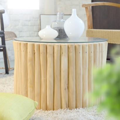 Ein natur Stil in Ihre Wohnzimmer mit einem eleganten Couchtisch